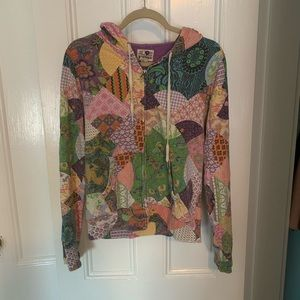 Lucky Brand Patchwork Hoodie